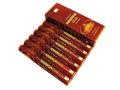 責任者拒絶新着DARSHAN(ダルシャン) マハラジャゴールド香 スティック MAHARAJA Gold 6箱セット