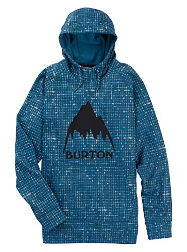(Burton Men's Crown Bonded Pullover Hoodie, Blue Sapphire Heather, Large)