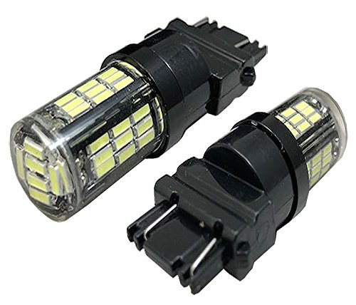 ICBEAMER 4 pcs 3056 3156 3157 3356 3456 42 LED Xenon Canbus Replace OEM Factory Halogen Light Bulbs Lamp [Color: White]