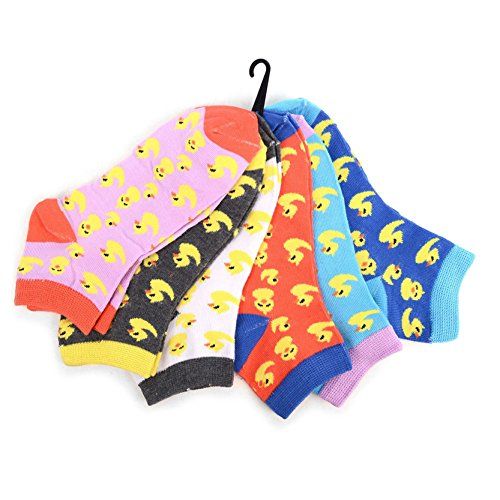 Hot 6 Pairs Pack of Women's Ducky Chick Novelty Low Cut Ankle Socks hot sale