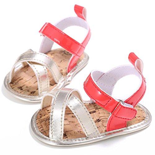 zapatos niña, Switch Recién nacido Bebé ninas Prewalker Zapatos primeros pasos, princesa Zapatos verano oferta moda Al aire libre sandalias de niña fiesta Suela blanda Rojo