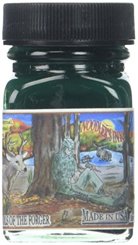 Noodler's Hunter Green Eternal Fountain Pen Ink - 1 OZ (Hunter Glass Fountain)