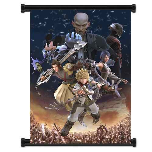 1 X Kingdom Hearts Birth By Sleep Game Fabric Wall Scroll Po