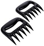 iArtker BBQ Meat Claws Pulled Pork Shredder , Meat Handler Carving Forks-Grill Acessories-Dishwasher Safe , Black