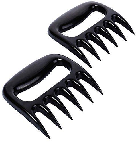 iArtker BBQ Meat Claws Pulled Pork Shredder , Meat Handler Carving Forks-Grill Acessories-Dishwasher Safe , Black