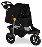 Marketworldcup Pet Stroller Cat Dog 3-Wheel Walk Jogger Travel Folding Carrier Deluxe BK
