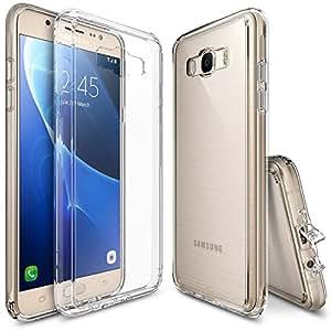Funda Galaxy J7 2016, Ringke [FUSION] Crystal Clear Volver PC TPU de parachoques [Proteccin de Cadas / golpes tecnologa de la absorcin] [Se adjunta del casquillo del polvo] para Samsung Galaxy J7 2016 - Clear