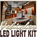 Biltek 6' ft Cool White Fishing Storage Compartment LED Strip Lighting Kit - Motorhome Boat Cabin Yacht Compartment Interior Lighting Waterproof DIY 110V-220V