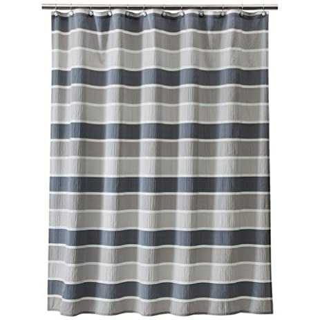 Charming Thresholdâu201e¢ Seersucker Shower Curtain   Gray