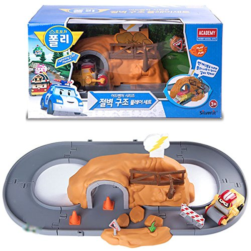 Robocar Poli Adventure Series Lightning Cliff Playset with Max Diecasting