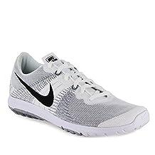 Nike Men's Flex Fury Running Shoe (12.5 D(M) US, Wht/Blk/Wolf Grey)