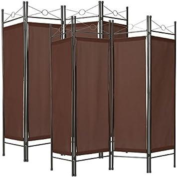 TecTake Biombos diseño 4-Panel Tela Divisor habitación Separador separación biombo 180x160cm Varias cantidades - (2X Marrón | no. 401831): Amazon.es: Hogar