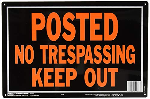 Hy-Ko Aluminum Sign,No Trespassing Property Sign (Pack of 12)]()