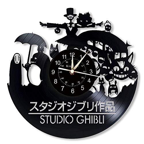 Cheemy Joint Mon Voisin Totoro Clock Horloge Murale en Vinyle de 12 Pouces | Le Cadeau du Voisin Totoro à Mon ami…