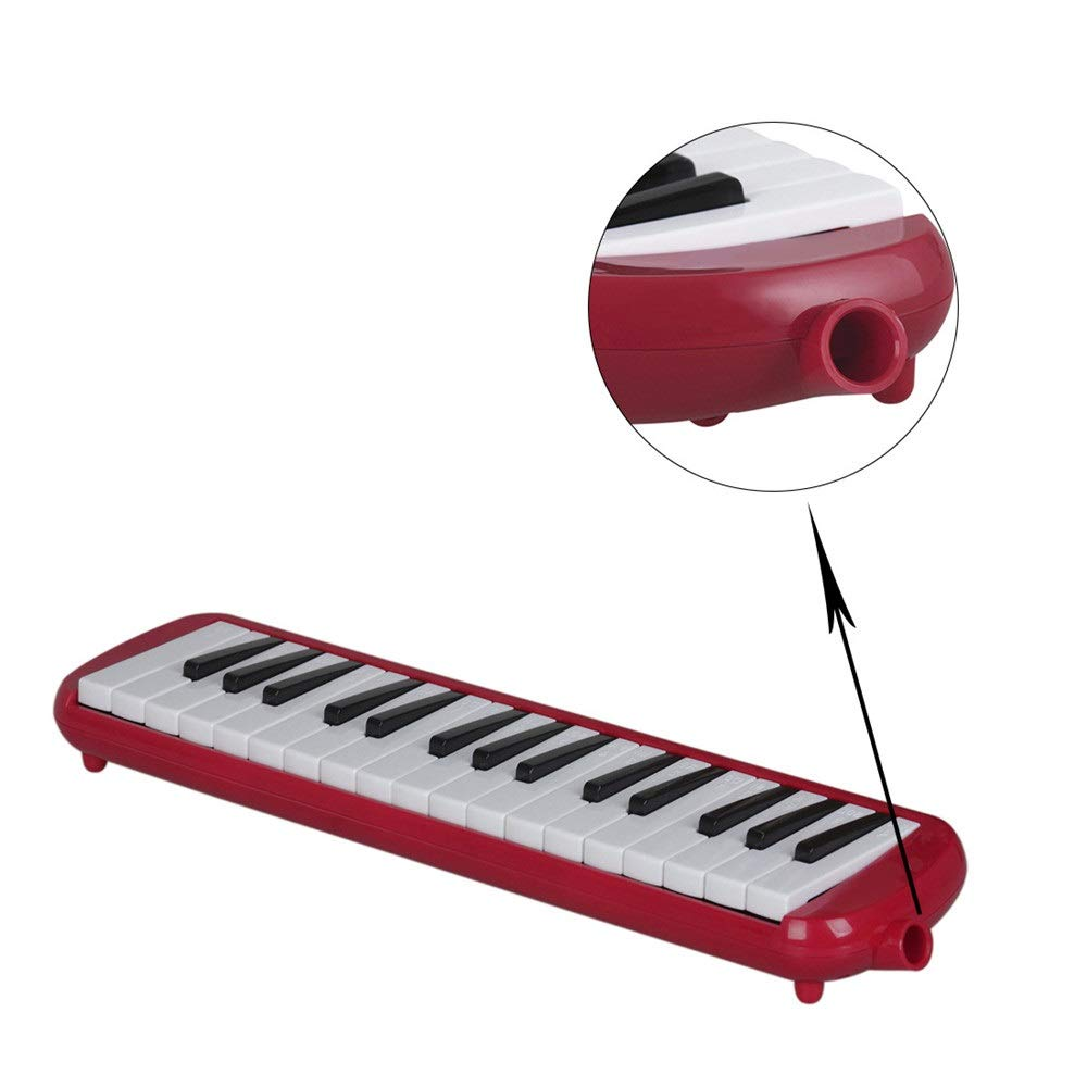 Melodica Musical Instrument Cartoon Kids Piano Keyboard Style Melodica Durable ABS 32 Keys With Portable Carrying Case Kids Musical Instrument Gift Toys For Music Lovers Beginners 2 Mouthpieces Tube S by Shirleyle-MU (Image #2)