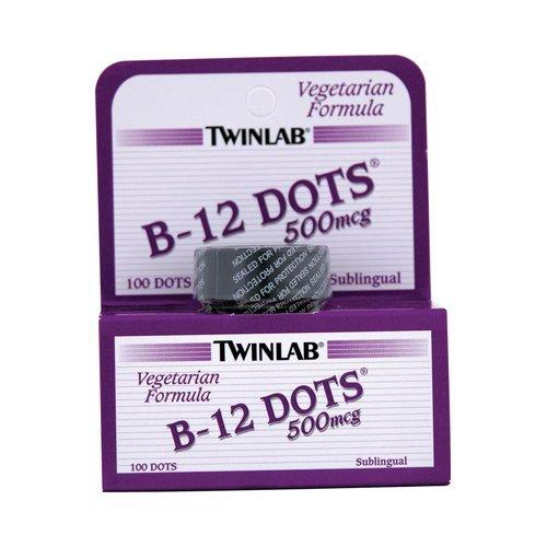 - Twinlab B-12 Dots, 500 Mcg - 100 per pack -- 6 packs per case.