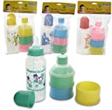 Baby Bottle Set w/3 Tier Powder Case 36 pcs sku# 1266047MA