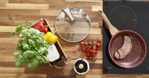 -[ Non Stick Frying Pan with Premium High Performance Stone Coating Bakelite Wood Effect Handle &am