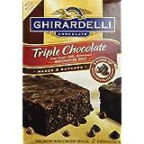 Ghirardelli Triple Chocolate Brownie Mix (Makes 3 Batches, 60 OZ box) by Ghirardelli