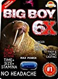 BIG BOY Junior 6XL, / PASSION (COMBO) Bigger is Better,+ inches Plus in 90 Days Penis Enlargement, Increase Energy and Endurance, 100% Natural, 100% Made in USA,24 Capsules ,Increase Libido!PLUS LOVE