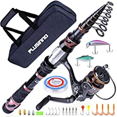 PLUSINNO Fishing Rod and Reel Combos is special for fisherman, it is the best gift choice for father, husband, son and friend as well. Specification: Model: Fishing rod+ reel (No Lures &Line)  1 x fishing rod1 x fishing reel Model: Full K...