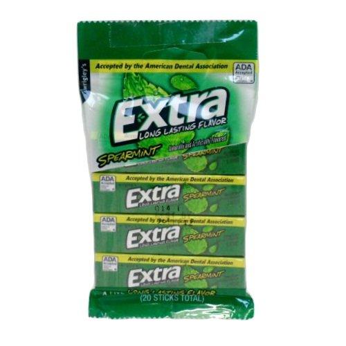 - Extra Spearmint - Long Lasting Flavor, 4 pk Gum