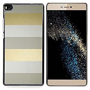 For HUAWEI P8 - gold grey gray stripes clean /Modelo de la piel protectora de la cubierta del caso/ - Super Marley Shop -