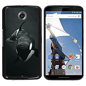 LOVE FOR NEXUS 6 / X / Moto X Pro Orca Whale Willy Black White Minimalist Personalized Design Custom DIY Case Cover