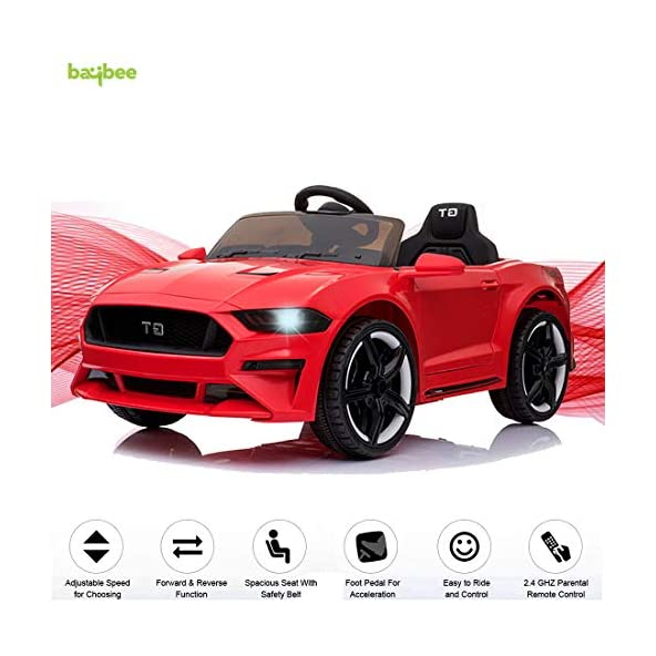 Baybee MASTANG GT Baby Toy Car Rechargeable Battery Operated Ride on car for Kids/Baby with R/C Jeep Children Car Electric Motor Car Kids Cars,Baby Racing Car for Boys & Girls Age 2 to 6 Years