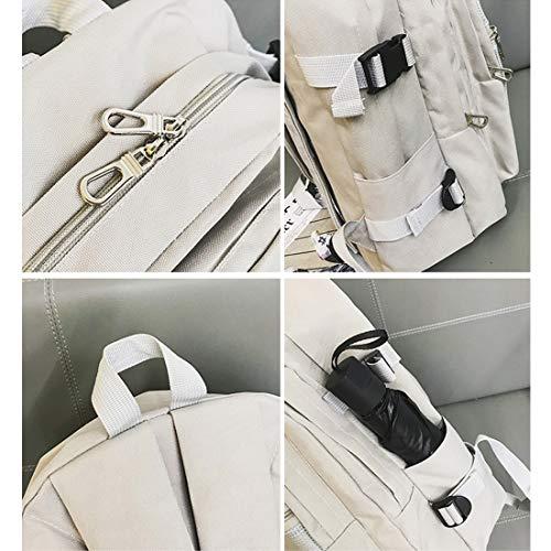 Capacidad Popular Bolsillo color Escuela Weatly De Gran Decorativo Mochila Gray Malla Gray Viaje Bolsa Niñas Punto Bolso EBqpX