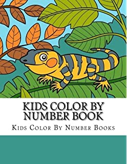 Kids Color By Number Book Cute Animal Coloring Activity For Children