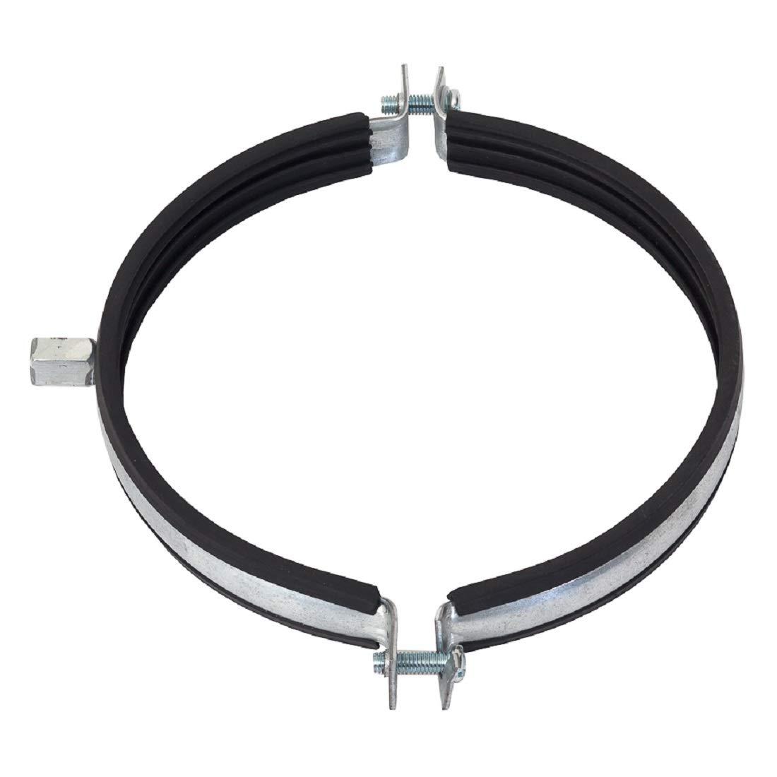 Abrazadera de tubo de 250 mm de di/ámetro junta de goma ventilador soporte para tubo