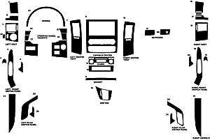 Rvinyl Rdash Dash Kit Decal Trim for Mercedes-Benz Sprinter 2010-2016- Wood Grain (Mahogany)