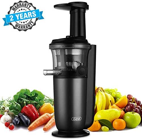 Slow Juicer, Slow Masticating Juicer with Slow Press Masticating Squeezer Technology for Fruits, Vegetables and Herbs, Slow Juicer with Compact Design and easy to clean, 150 Watt, Black