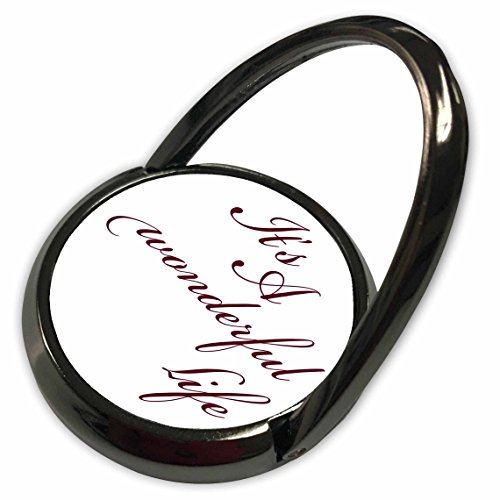 3dRose PS Inspirations - Its A Wonderful Life- Inspirational Sayings - Phone Ring (phr_79141_1)