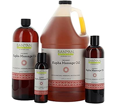 Banyan Botanicals Kapha Massage Oil - Certified Organic - Invigorating, warming, revitalizing - Stimulates the body and sharpens the mind*