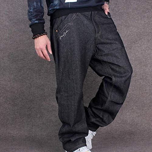 Vintage Da Danza Exquisite Nero Hip Denim Casual Pantaloni Skinny Urban Larghi Jeans Uomo Classic Hop w4qXxx75B
