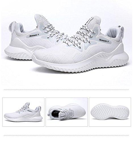 De Deportivo Running Gimnasia Casual Calzado Para Tuoking Zapatillas Transpirables Blanco Hombre Correr Zapatos Deporte q080B