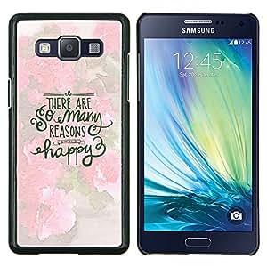 Dragon Case - FOR Samsung Galaxy A5 A5000 A5009 - happy inspirational motivational spring - Caja protectora de pl??stico duro de la cubierta Dise?¡Ào Slim Fit