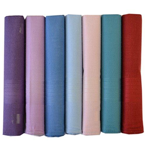 ETHO - Hommes Mouchoirs en tissu teinté coloré divers coloris - Pack de 7