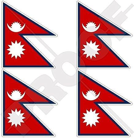 Nepal Flag Stickers rectangular 21 or 65 per sheet