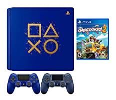 PlayStaion 4 Overcooked! 2 Days of Play Limited Edition Bundle: PlayStation 4 Days of Play Limited Edition 1TB Console, Overcooked! 2 Game and Extra Midnight Blue Dualshock 4 Wireless Controller