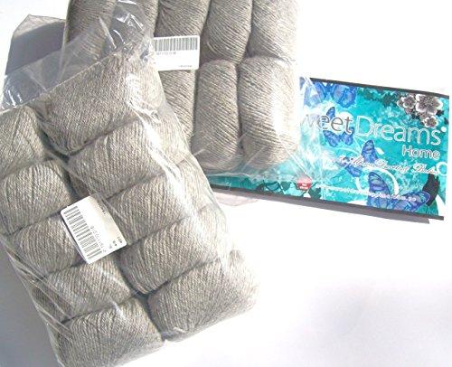 Royal Llama Silk Yarn - Pack: Buy 100% Baby Alpaca Skeins Double Knitting Yarn 4/9 nm, 10 skeins, (Total: 1.10 Lbs - 500 gr), Silver Grey, Thermo, Allergy-Free, Organic Ultra Silky, Breathable, Eco-Friendly