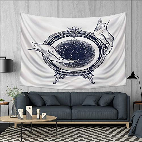 Anhuthree Gypsy Wall Tapestry Fortune Teller Tattoo Art Design Predicting The Future Theme Mystery Magic Home Decorations for Living Room Bedroom 80