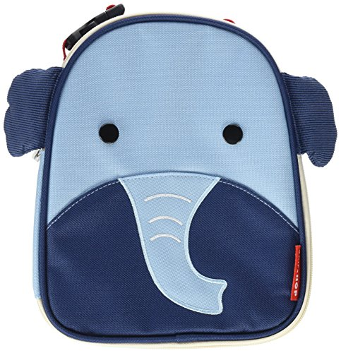 Skip Hop Baby Zoo Little Kid and Toddler Insulated and Water-Resistant Lunch Bag, Multi Edi Elephant