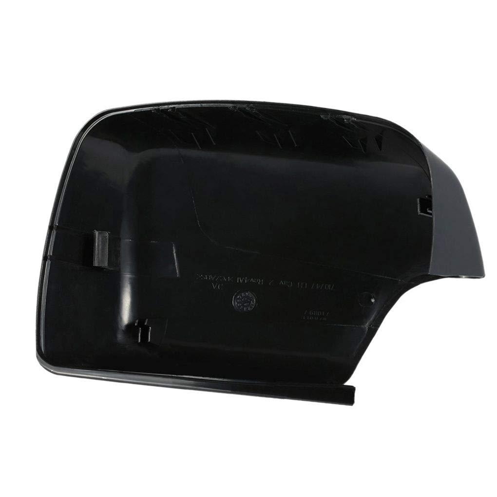 Republe Negro Conductor del Lado Izquierdo de reemplazo retrovisor Casquillo de la protecci/ón de la Cubierta Cover Retrovisor Exterior para BMW X5 E53 00-06 51168266733
