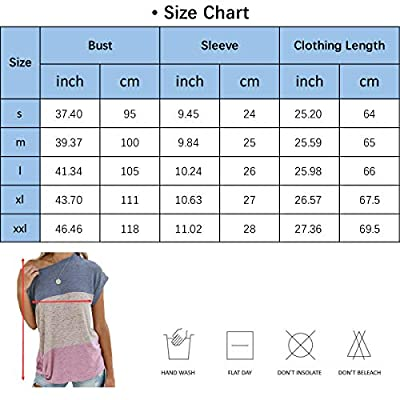 Twotwowin Women's Summer Tops Color Block Side Twist Knotted Short Sleeve Shirts Casual Blouse