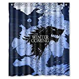 Aloundi Baodan Zhang Custom Game of Thrones Cool Design Waterproof Fabric Bathroom Shower Curtain