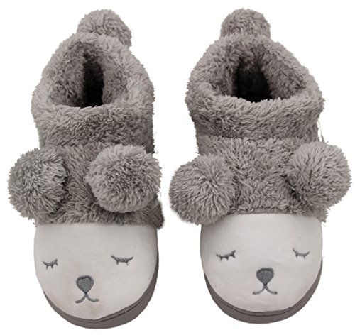 Caramella Bubble Women Wool Plush Fleece Lined Slip On Memory Foam Clog House Slippers Indoor / Outdoor