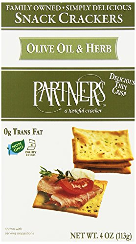 Partners All Natural Crackers, Olive Oil and Herb, 4-Ounce Boxes (Pack of - Smoked Crackers Salmon